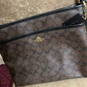 Coach Black and Brown Crossbody